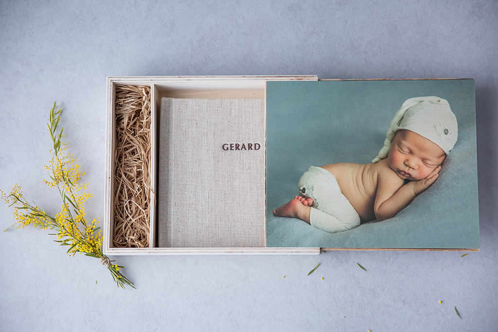 Album lino caja madera